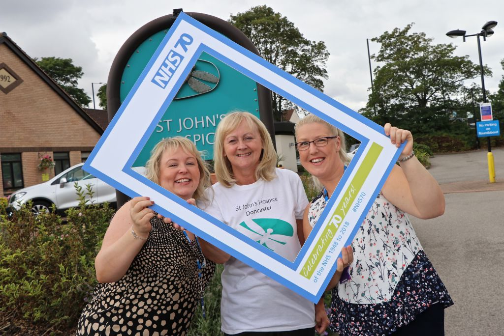 Joanne Galsworthy is pictured left, together with Lindsey Richards of the hospice and Clare Goodwin, also of the Rapid Response Team.
