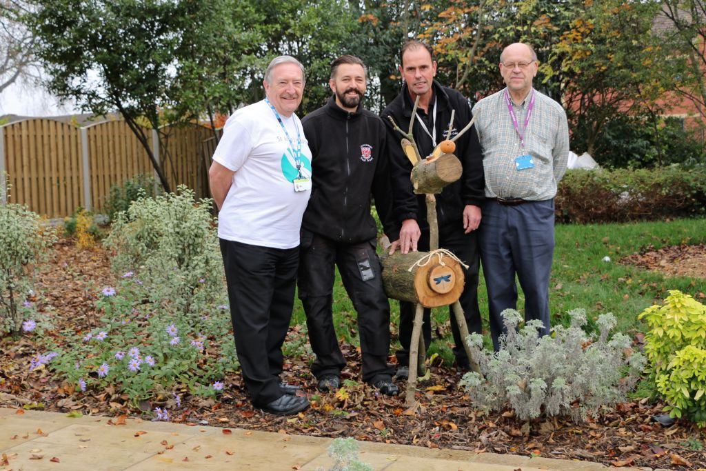 Pictured left to right are: John Wells, St John's Hospice Fundraiser, Chris Monk, Chris Dyke and Adrian Colley, Volunteer.