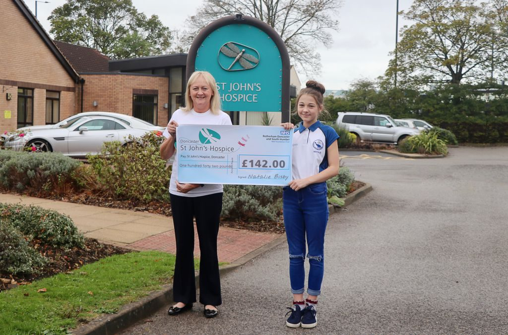 Pictured left to right are: Lindsey Richards, St John's Hospice Fundraiser and Natalie Bisby