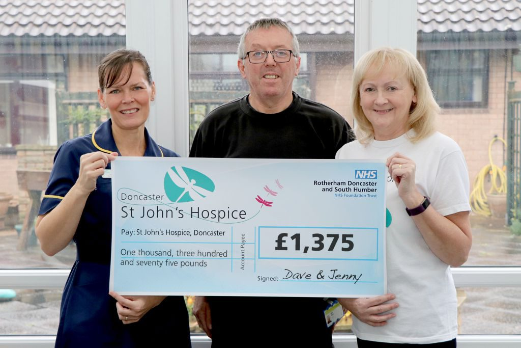 From left to right: Sam Edwards, hospice clinical team leader is pictured with Dave Wall and Lindsey Richards also of the hospice.